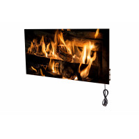 Керамічна панель 500Bт Model 55 з малюнком Fire у нержавіючому корпусі та з NFC програмуванням | Smart Install